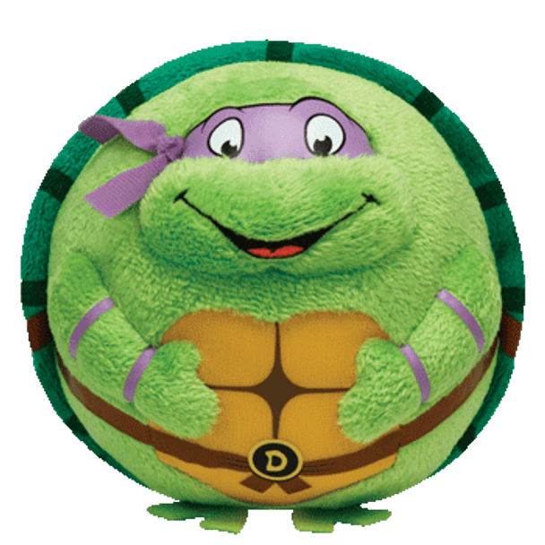 Ty Beanie Ballz Teenage Mutant Ninja Turtles Donatello  5-Inch Plush