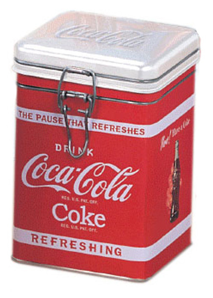 Coca-Cola Logo Square Locktop Tin