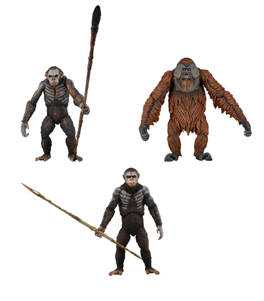 Dawn of the Planet of the Apes Series 1 Action Figure Set