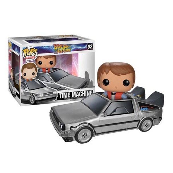 Back to the Future DeLorean Time Machine Pop! Vinyl Vehicle w/Marty McFly Figure