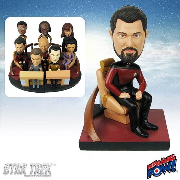 Star Trek: The Next Generation Riker Build-a-Bridge Bobble Head