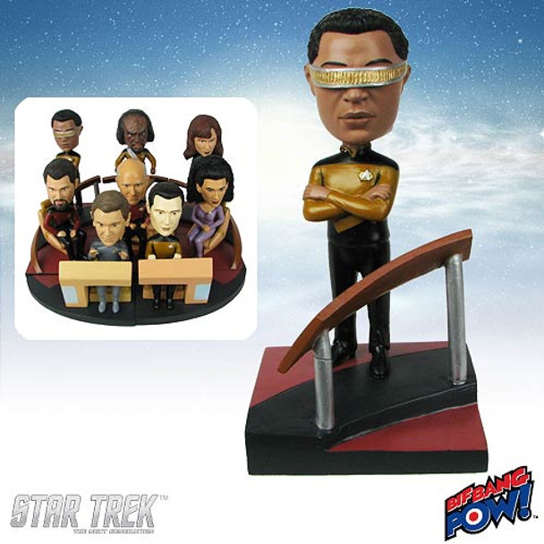 Star Trek: The Next Generation La Forge Build-a-Bridge Bobble Head
