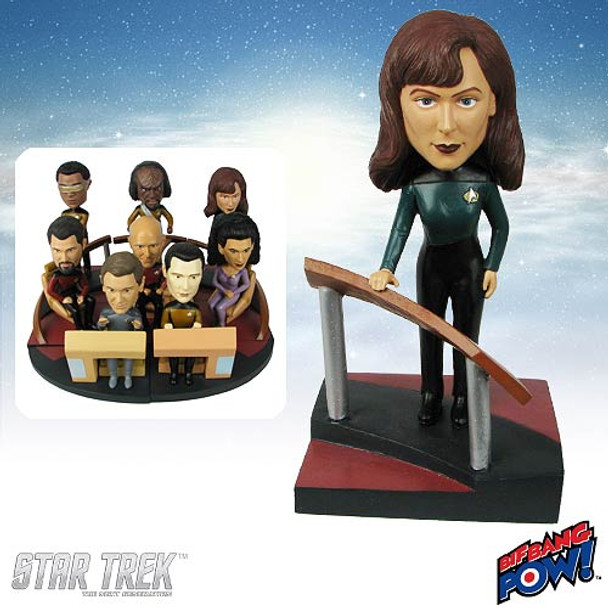 Star Trek: Next Generation Doctor Crusher Build-a-Bridge Bobble Head