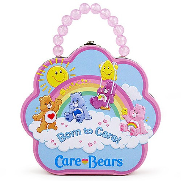 Care Bears Born To Care Flower Purse Tin Tote