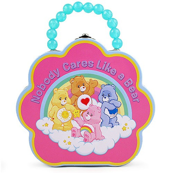 Care Bears Nobody Cares Like a Bear Flower Purse Tin Tote