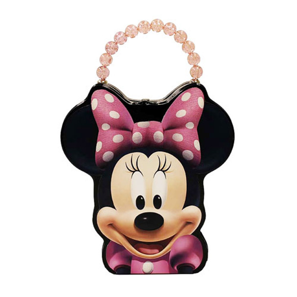 Minnie Mouse Head Shaped Embossed Tin Tote with Handle