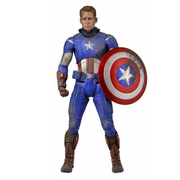 The Avengers Battle Damaged Captain America 1:4 Scale Action Figure