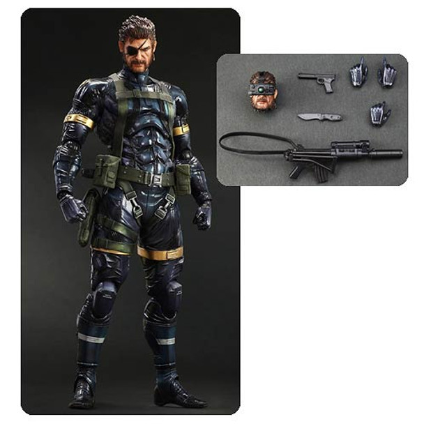 Metal Gear Solid V Ground Zeroes Snake Play Arts Kai Action Figure