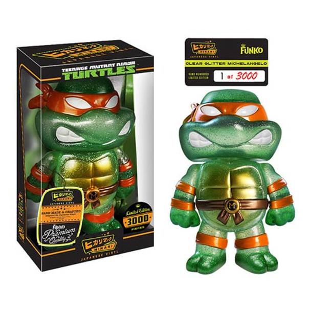Teenage Mutant Ninja Turtles Clear Michelangelo Hikari Sofubi Vinyl Figure