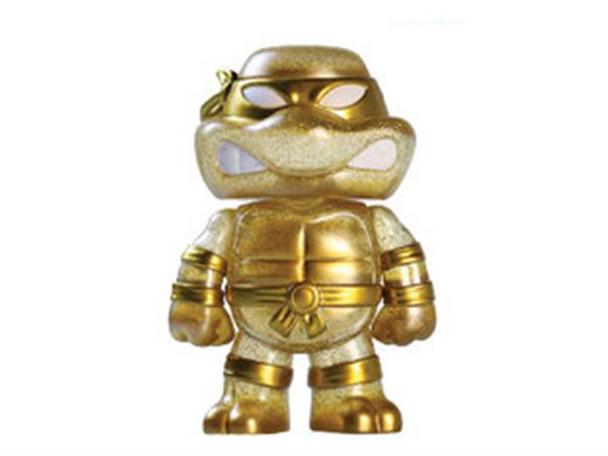 Teenage Mutant Ninja Turtles Gold Glitter Hikari Sofubi Vinyl Figure