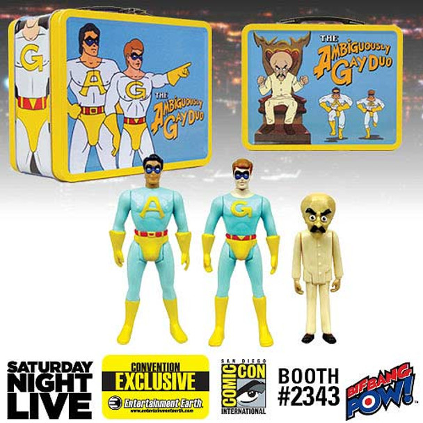 SNL The Ambiguously Gay Duo & Bighead 3 3/4-Inch Figures in Tin Tote
