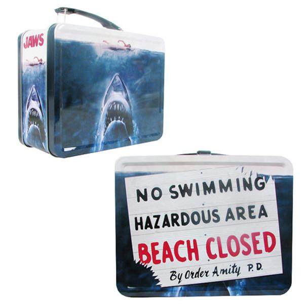 Jaws No Swimming Retro Style Tin Tote Lunch Box