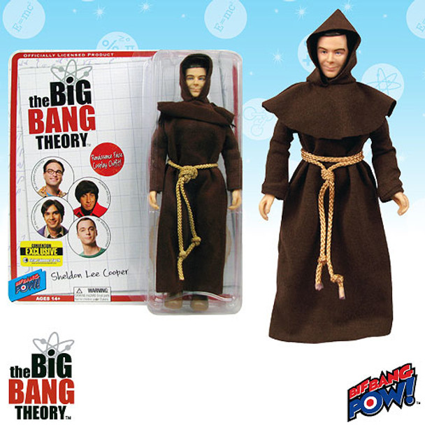 The Big Bang Theory Sheldon in Monk Costume 8-Inch Action Figure
