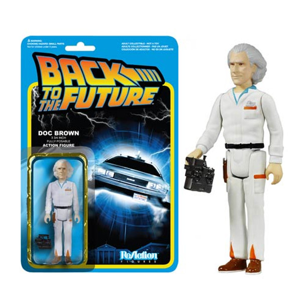 Back to the Future Doc Emmett Brown ReAction 3 3/4-Inch Retro Figure