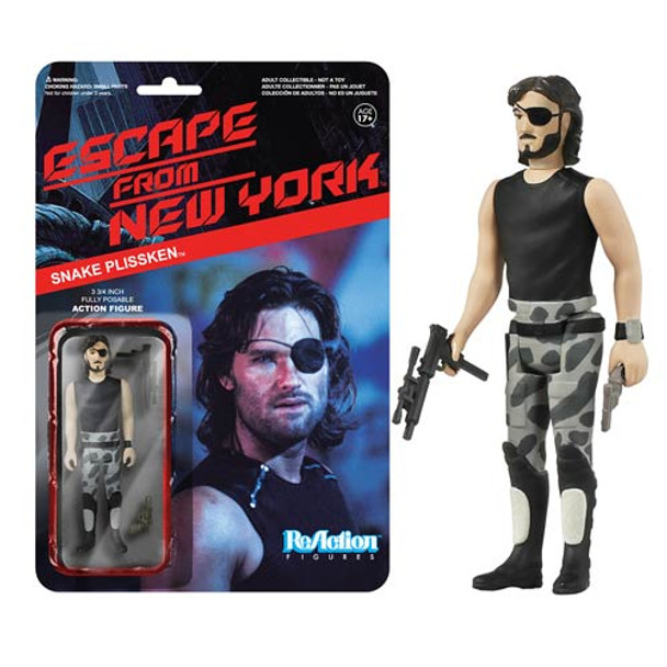 Escape from New York Snake Plissken ReAction 3 3/4-Inch Retro Figure