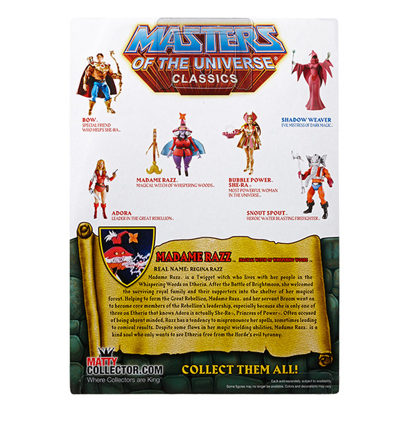 Masters Of The Universe Classics Madame Razz & Broom Figure