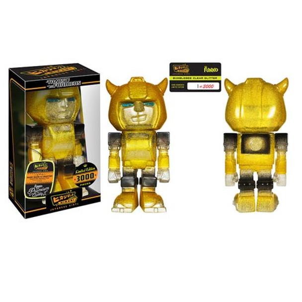 Transformers Bumblebee Clear Glitter Hikari Sofubi Vinyl Figure