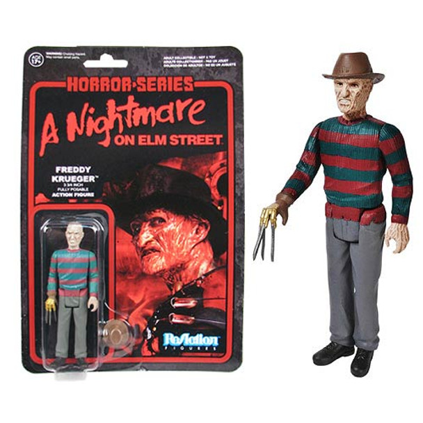 Nightmare on Elm Street Freddy Krueger ReAction 3 3/4-In Retro Figure