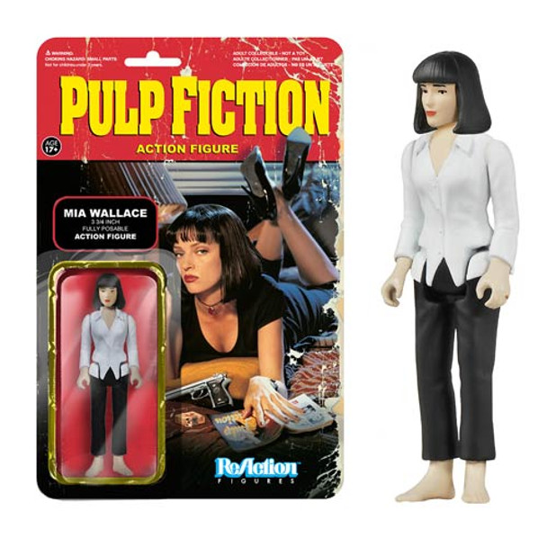 Pulp Fiction Mia Wallace ReAction 3 3/4-Inch Retro Action Figure