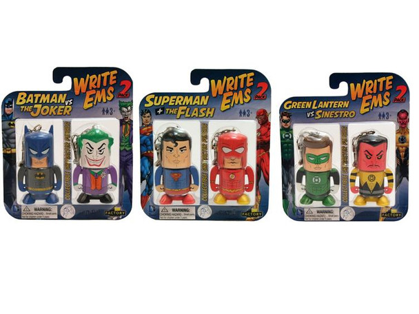 DC Comics Write Ems Two Pack - Set of 3