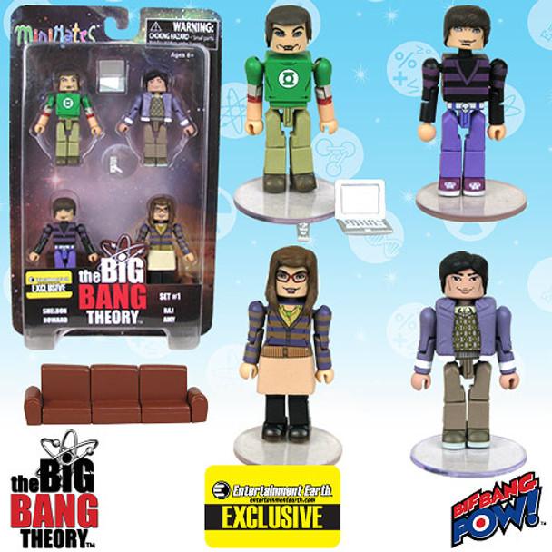 The Big Bang Theory Minimates Set 1 - Entertainment Earth Exclusive