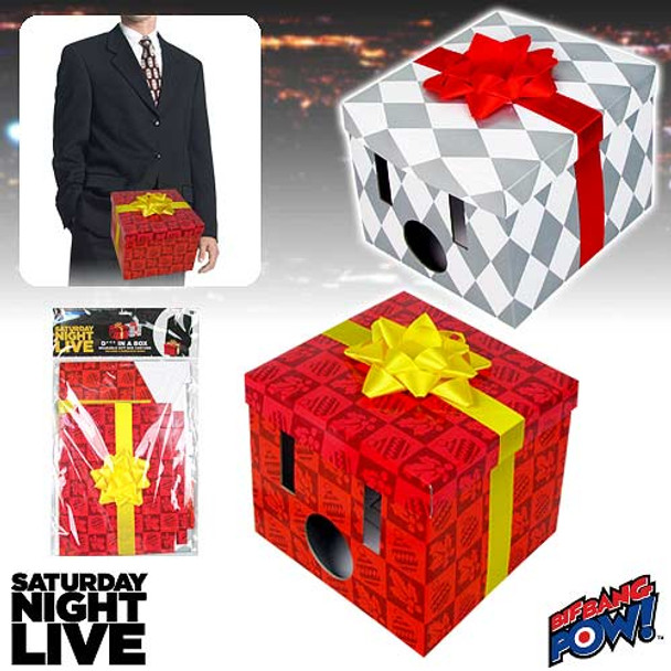Saturday Night Live Dick in a Box Wearable Gift Box Costume Set of 2