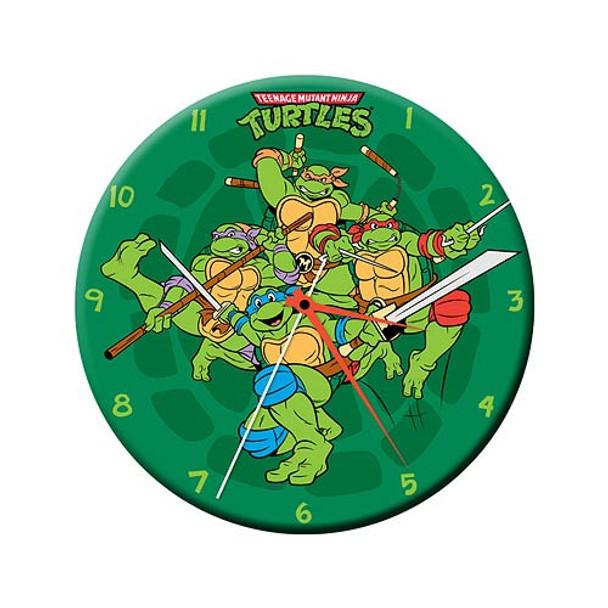 Teenage Mutant Ninja Turtles 13 1/2-Inch Cordless Wood Wall Clock