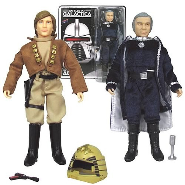 Battlestar Galactica Lt. Starbuck and Cdr. Adama Figures