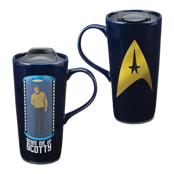 Star Trek Beam Me Up Scotty 20 oz. Heat Reactive Ceramic Travel Mug