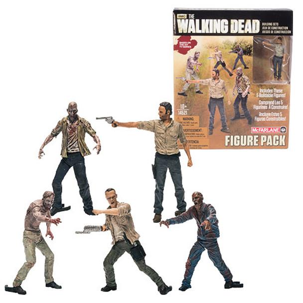 The Walking Dead Mini-Figure Building Set 5-Pack