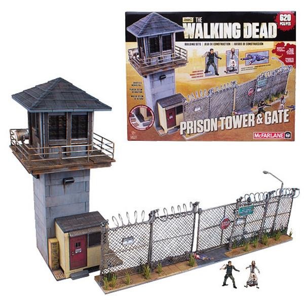 The Walking Dead Prison Tower Mini-Figure Building Set