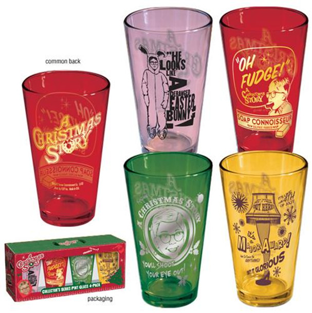 A Christmas Story Colored Pint Glass 4 pack