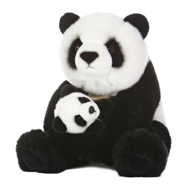 Panda With Cub 14-Inch Plush