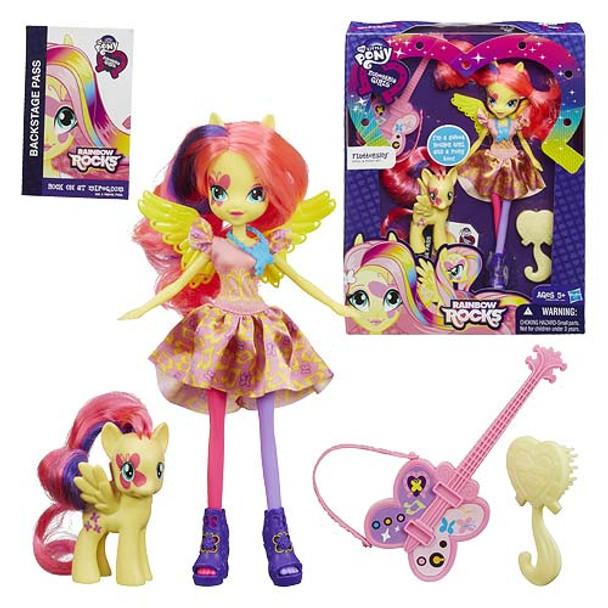 My Little Pony Equestria Girls Rainbow Rocks Fluttershy Doll with Pony
