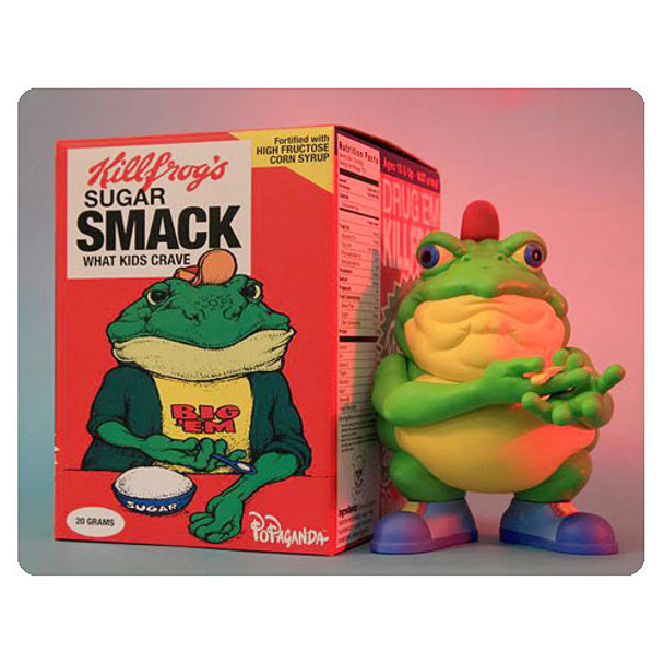 Drug Em Killfrog The Sugar Smack Bullfrog Cereal Killer Series Vinyl Figure