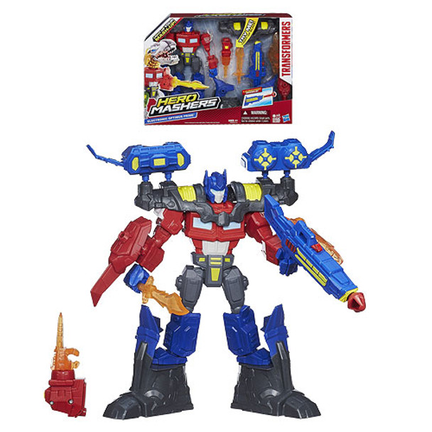 Transformers Hero Mashers Electronic Optimus Prime Action Figure