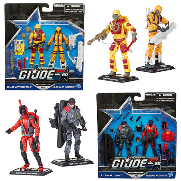 G.I. Joe 50th Anniversary Action Figures 2-Packs Wave 1 Set