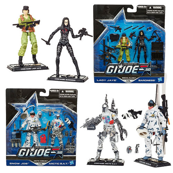 G.I. Joe 50th Anniversary Action Figures 2-Packs Wave 2 Set