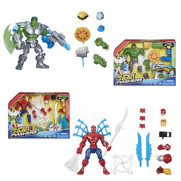 Marvel Super Hero Mashers Feature Action Figures Wave 1 Set