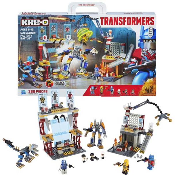 Kre-O Transformers Age of Extinction Galvatron Factory Battle Set