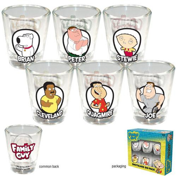 Family Guy Shotglass 6-Pack
