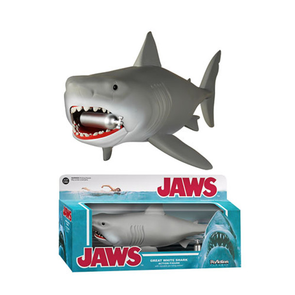 Jaws Great White 10-Inch ReAction 3 3/4-Inch Retro Action Figure