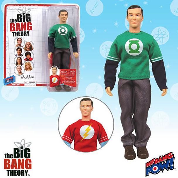 The Big Bang Theory Sheldon Green Lantern and The Flash T-Shirts 8-Inch Figure