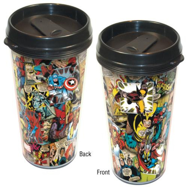 Marvel Comic Collage Travel Mug