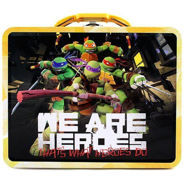 TMNT We Are Heroes Large Embossed Tin Lunch Box