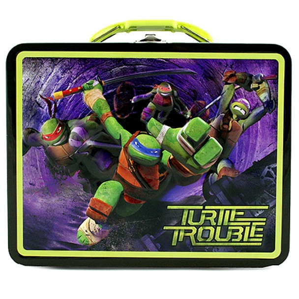 TMNT Turtle Trouble Large Embossed Tin Lunch Box