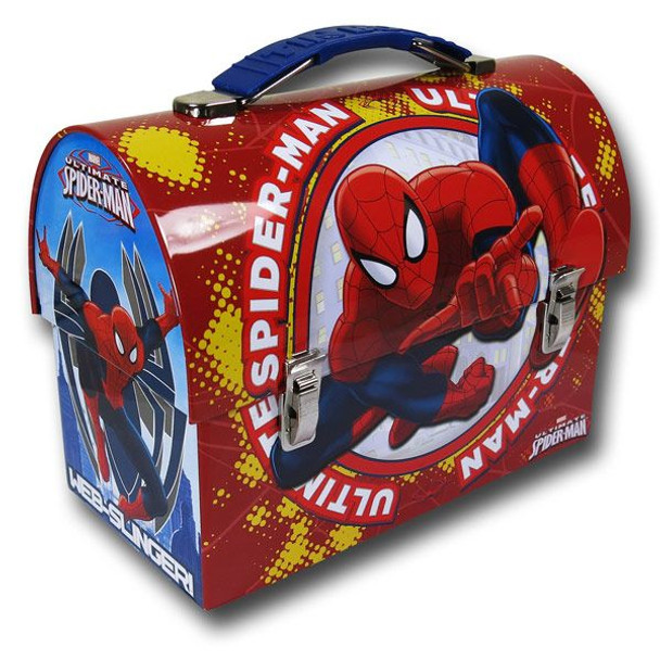 Spider-Man Ultimate Large Workman Carry All Tin Lunch Box