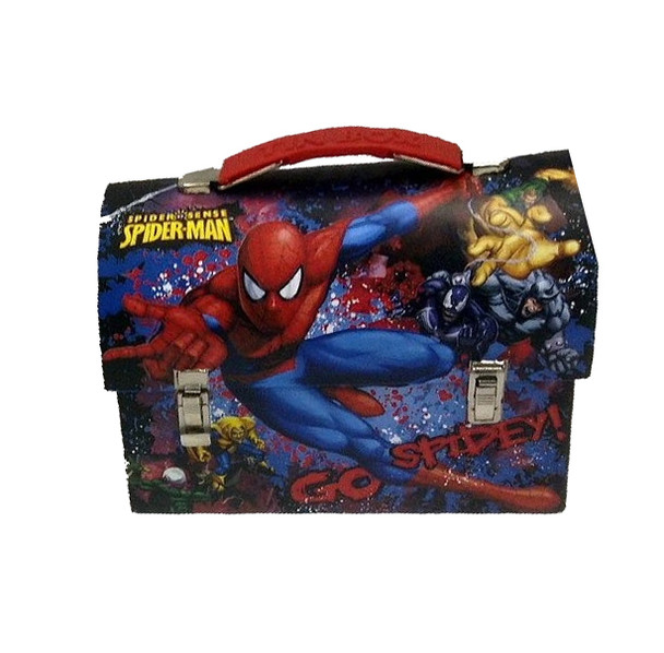 Spider-Man Go Spidey Large Workman Carry All Tin Lunch Box