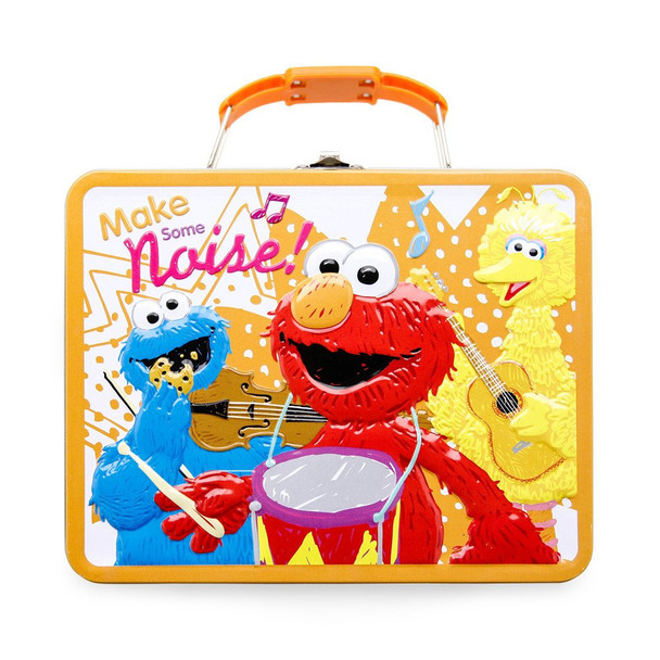 Sesame Street Elmo Make Some Noise Embossed Carry All Tin Lunch Box