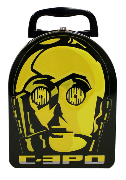 Star Wars C3PO Face Embossed Lunch Box